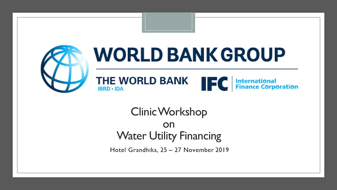 Clinic Workshop on Water Utility Financing